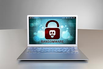 Virus på dataskjerm